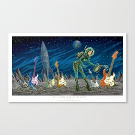 In a Locked Room on the Moon Canvas Print