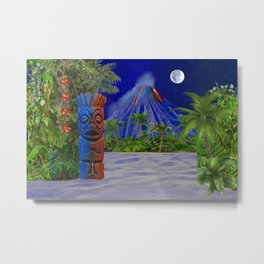 Tiki Art Background Metal Print