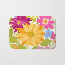 Bold Flowers Bath Mat