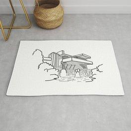 FLW - Falling water Sketch (B) Rug