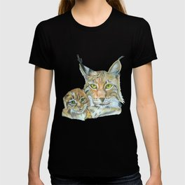 Lynxes (Lynx with Baby) T-shirt