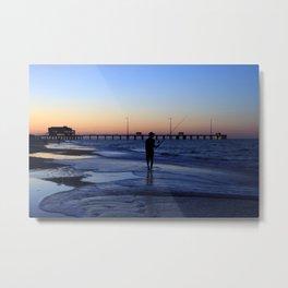 Surf Fishing Outer Banks Metal Print