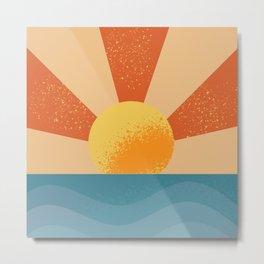 Sun and Ocean Metal Print