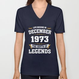 December 1973 45 the birth of Legends Unisex V-Neck