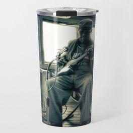 Hosea Hargrove, The Godfather Of Austin Blues Travel Mug