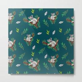 Koala Pattern Metal Print