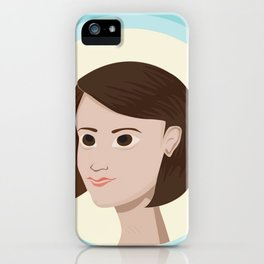 Short Hair Don't Care iPhone Case