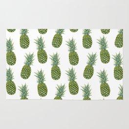 Watercolor pineapple print Rug