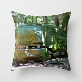 Alligator Rock 2 Throw Pillow