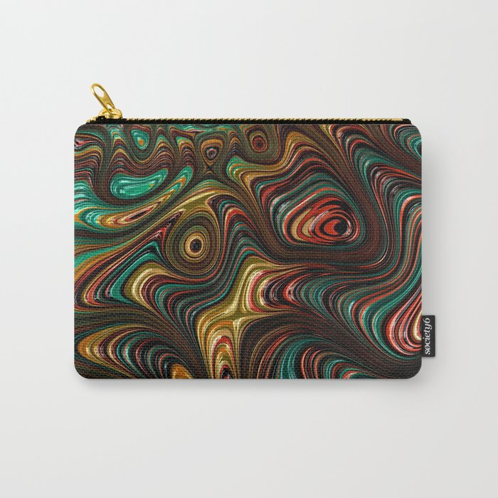 Trippy Fractal Carry-All Pouch