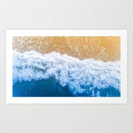 Beautiful Beach Waves Art Print