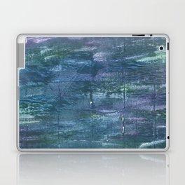 Metallic blue abstract watercolor Laptop & iPad Skin