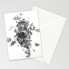 The Diver (Black and White Version) Stationery Cards