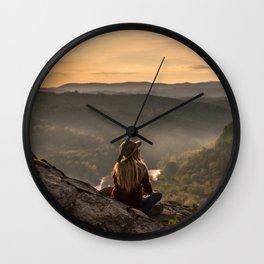 Morning on Starr Mtn Wall Clock