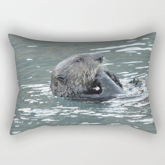 Crustacean Dinner Rectangular Pillow