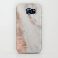 Marble - Rose Gold Shimmery Marble Galaxy S7 Slim Case
