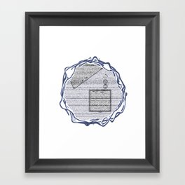abysmal doorway Framed Art Print