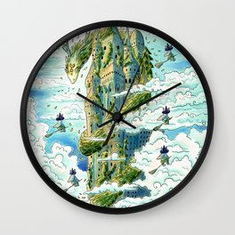 Magical Corporate Elevator: Dragon Guard Floor Wall Clock