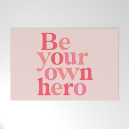 Be Your Own Hero Welcome Mat
