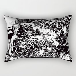 Burning Monk Rectangular Pillow