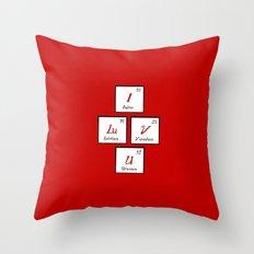 Chemisrty Throw Pillow