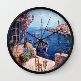 Morning at the Wharf Wall Clock