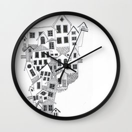 The little town Wall Clock