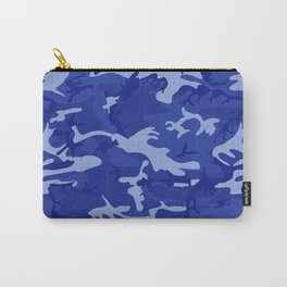 Bright Blue Camo Pattern Carry-All Pouch
