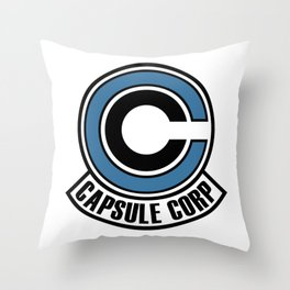 capsule corp logo Throw Pillow