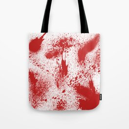 Bloody Blood Spatter Halloween Tote Bag