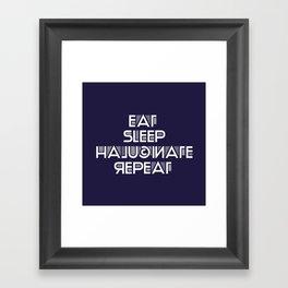 Eat Sleep Halucinate Repeat Framed Art Print