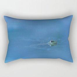 Don't kiss me, said the frog Rectangular Pillow