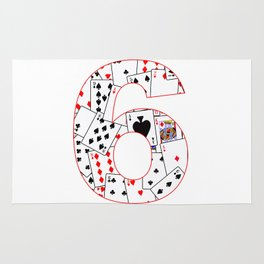 Number Six Cards Rug