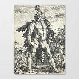 Hercules by Hendrick Goltzius, 1589 Canvas Print