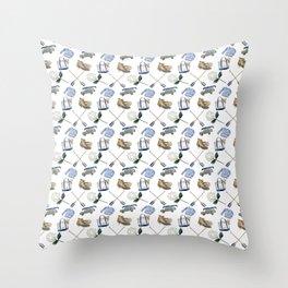 Duck Boot Adventure Throw Pillow