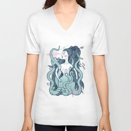 Octopus lady Unisex V-Neck