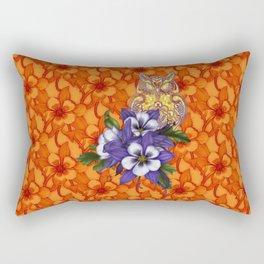 Columbine Paisley Owl Rectangular Pillow