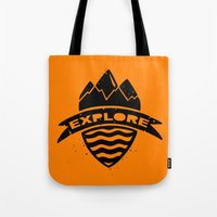explore Tote Bags featuring Explore  by Dylan Morang