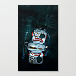 BUSTED ROBOT Canvas Print