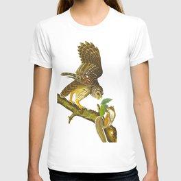 Barred Owl John James Audubon Scientific Vintage Illustrations Of American Birds T-shirt