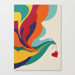 Love Message Canvas Print