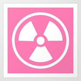 Pink Radioactive Symbol Art Print
