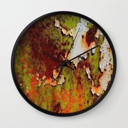 Moldy Rust Texture Wall Clock