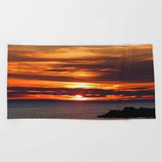 Sunrise Flight  Beach Towel