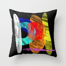 Pastel Pieces - Abstract, pastel artwork Throw Pillow