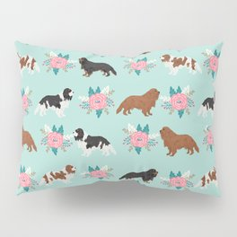 Cavalier King Charles Spaniel florals cute gift for dog lover custom pet portrait pet friendly dog Pillow Sham