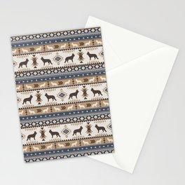 Boho dogs | German shepherd pattern tan Stationery Cards
