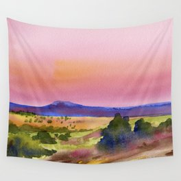 Pink Sunset Wall Tapestry