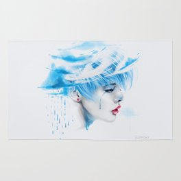 Head Up In The Clouds (blue ver.) Rug