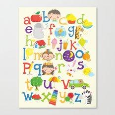 Wedgienet's Alphabet Canvas Print